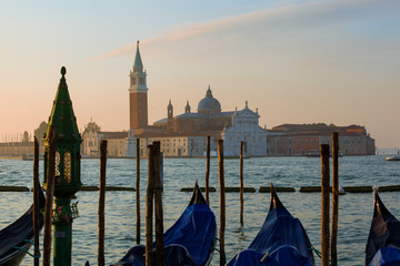 morning view of San Giorgio island, Venice, Italy