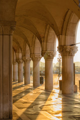 gallery of Doges' Palace. Italy. Venice.