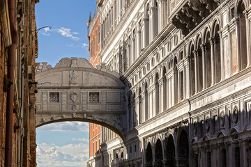 bridge of sighs ( ponte dei sospiri). Venice. Italy.