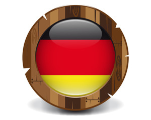 Germany wood button