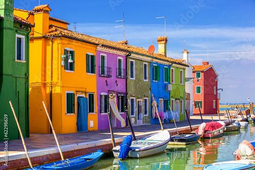 architecture of Burano island. Venice. Italy. - 62298639