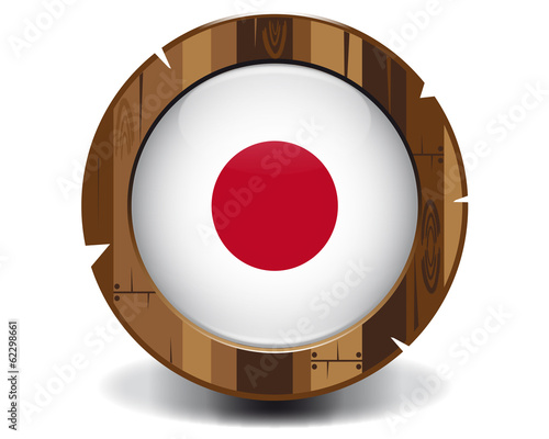 Japan wood button