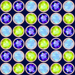 green, blue and violet gemstone seamless pattern