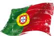 Portuguese grunge flag