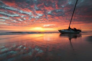 Coastal Shipwreck Beach Sunrise North Carolina