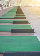 empty golf driving range