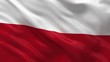 Flag of Poland waving in the wind - seamless loop