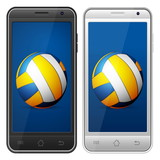 smartphone volleyball