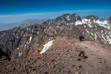 Descending Toubkal