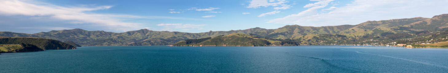 Coastline at Akaroa in New Zealand