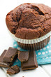 chocolate and chocolate muffin