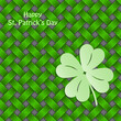 St Patrick's shamrock on seamless green texture