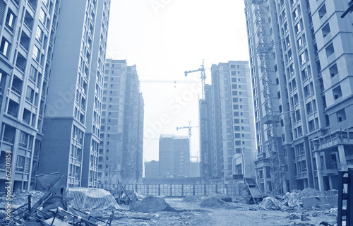 Apartment building site
