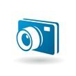3D Blue camera icon