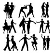 Dancing people set