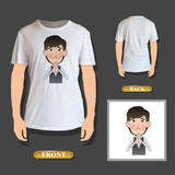 businessman pleading printed on white shirt. Vector design