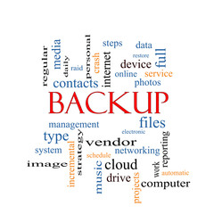 Backup Word Cloud Concept