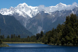 glacier over lake matheson