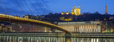 Panoramic view of Saone river at Lyon