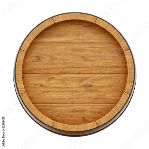 render of a wine barrel from top , isolated on white - 62302435