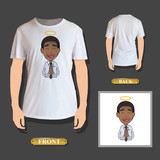 businessman zen printed on shirt. Vector design