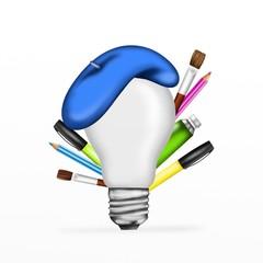 lampadina pittore