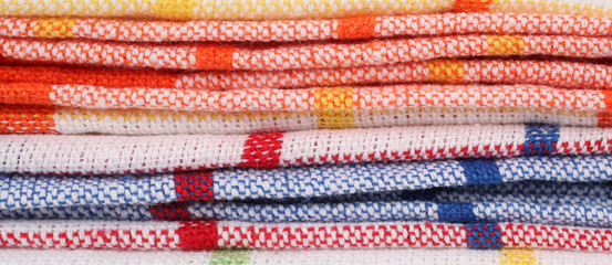 Kitchen rags, table napkins or tablecloths vintage macro
