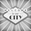 Welcome to our city vintage background poster