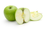 Green apple and apple chopped into pieces