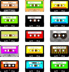 Verschiedene Kassetten