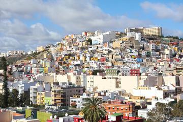 Colourful houses of Las Palmas of Gran Canaria, Spain