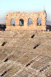 Steps and Roman arcade at Arena of Verona, Italy