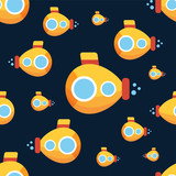 Yellow submarine vector background