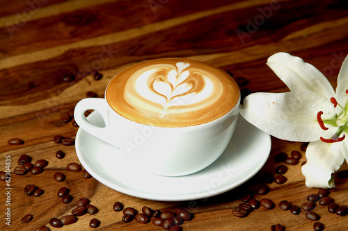 canvas print picture Latte Art