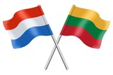 Flags: Luxembourg and Lithuania