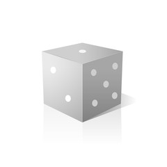 single dice over isolated background