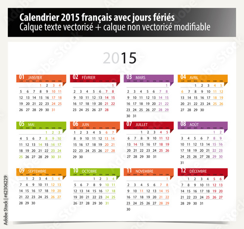 Calendrier 2015 - français / modifiable