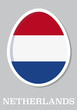 sticker flag of Netherlands in form of easter egg
