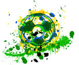 Soccer / Football ball, brazil, vector