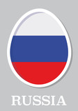 sticker flag of Russia in form of easter egg