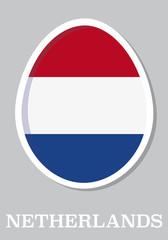 sticker flag of Netherlands in form of easter egg