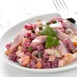 Herring and beetroot salad