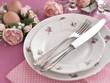 Nostalgic Easter table setting