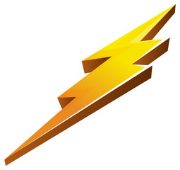 Lightening Bolt Icon - Illustration
