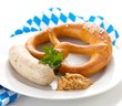 Bavarian white sausage and pretzel