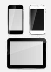 Abstract Design Mobile Phone and Tablet PC. Vector Illustration