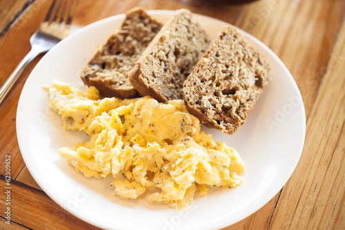 Banana Bread and Scrambled Eggs