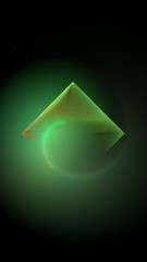 fractal animation of green diamond