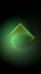 fractal animation of green diamond