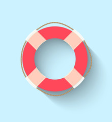 Life buoy in flat style